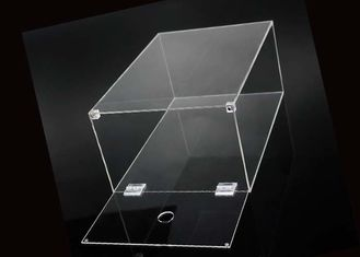 Shoe Box Packing Clear Acrylic Display Case With Magnets Lid Sneaker